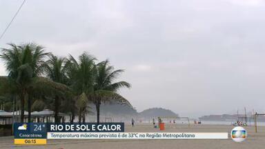 Veja como fica o tempo no Rio de Janeiro nesta sexta-feira (27) - O dia deve ser de sol e calor. A temperatura máxima prevista é de 33ºC.