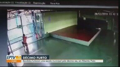 Escola é invadida e tem fiação elétrica furtada pela 2ª vez em 8 meses em Ribeirão Preto - Dupla danificou caixa de energia e sistema de aterramento substituídos há poucos meses.
