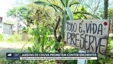 Jardins de chuva ajudam a conter enchentes na Capital - Pacaembu recebe obras de microdrenagem; No Grajaú, iniciativa popular fez a diferença na comunidade