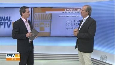 Especialista comenta expectativas para a economia do país em 2020 - José Rita Moreira fala sobre crise financeira na construção civil e aumento de empregos no comércio em Ribeirão Preto (SP).