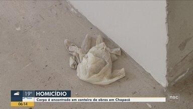 Homem de 34 anos é encontrado morto em canteiro de obras - Homem de 34 anos é encontrado morto em canteiro de obras
