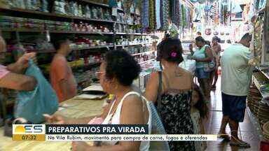 Oferendas e fogos; veja como se preparam os capixabas para a virada de ano, no ES - Vila Rubim, região de comércio de Vitória, ficou movimentada nos últimos dias do ano.