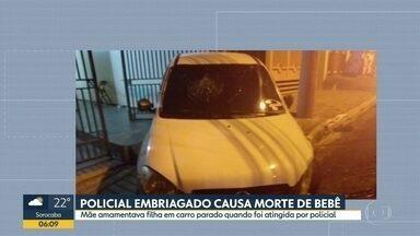 Policial embriagado bate em carro e mata bebê - Batida foi logo depois da virada de ano. Motorista, que trabalha no Corpo de Bombeiros, foi preso.