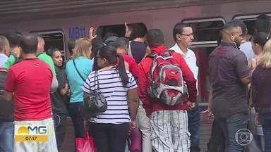 Chuva afeta circulação do metrô em Belo Horizonte - Região da estação Vilarinho foi uma das atingidas pelo temporal.