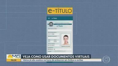 Alguns documentos virtuais podem ser usados em viagens - Vários já são aceitos na hora de embarcar em ônibus e aviões.