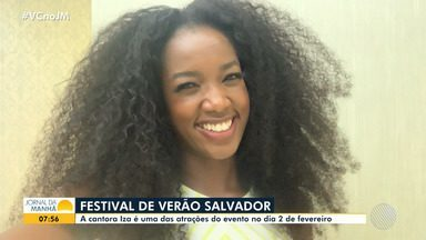 Cantora Iza manda recado para baianos que vão curtir o Festival de Verão 2020 - A festa acontece no mês de fevereiro, em Salvador.