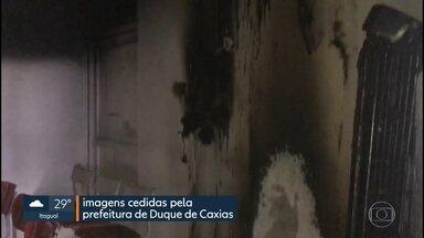 Incêndio em posto de saúde danifica setor administrativo e de odontologia - O posto fica no Parque Equitativa, na avenida Automóvel Clube. O fogo começou depois de um curto circuito na caixa de força.