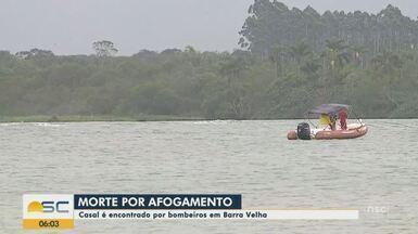 Corpos de casal que se afogou em lagoa de SC são encontrados - Corpos de casal que se afogou em lagoa de SC são encontrados