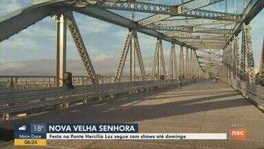 Programação cultural ocorre até domingo na Ponte Hercílio Luz em Florianópolis - Programação cultural ocorre até domingo na Ponte Hercílio Luz em Florianópolis
