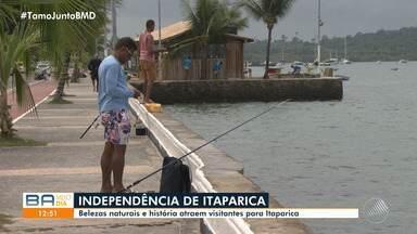 Itaparica comemora 197 anos de independência e moradores falam sobre as belezas naturais - História atrai visitantes. Cidade faz aniversário na terça-feira (7).