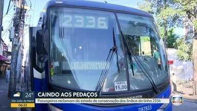 Passageiros denunciam péssimo estado de conservação dos ônibus da empresa Pégaso - Telespectadores denunciam o péssimo estado de conservação e higiene dos ônibus da linha 2336, Campo Grande x Castelo.
