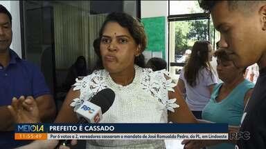 Primeira dama de Lindoeste desabafa depois do marido ter o mandato cassado - Por 6 votos a 2, vereadores cassaram o mandato de José Romualdo Pedro, do PL, em Lindoeste
