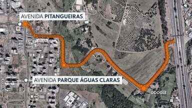 Nova saída de Águas Claras deve ser concluída ainda nesse semestre - A promessa é do DER. A pista que vai dar acesso à EPTG, deve sair do encontro da Rua Pitangueiras com a Avenida Parque Águas Claras.