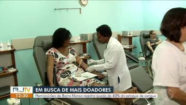 Número de doadores de sangue no Sul do Rio diminui em períodos de férias - Hemonúcleo de Barra Mansa registra queda de 40% do estoque.