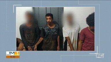 Polícia prende suspeitos de cometer latrocínio em Grajaú - Suspeitos foram presos e levados para Imperatriz.
