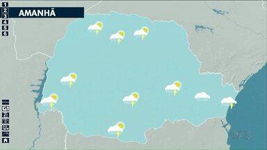 Chuva segue pelo noroeste nos próximos dias - Áreas de instabilidade seguem avançando pelo Paraná.