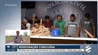 Polícia conclui investigação de quadrilha que tentou invadir cofre de banco na Capital - Eles cavaram túnel para entrar em central do Banco do Brasil, mas acabaram presos.