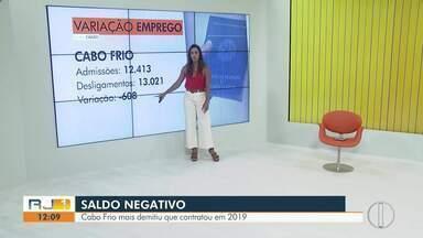Cabo Frio, RJ, demitiu mais do que contratou em 2019 - Situação preocupa quem está a procura de emprego.