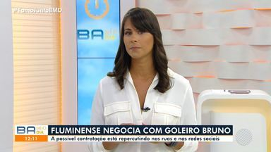 Jéssica Senra comenta possível contratação do goleiro Bruno pelo Fluminense de Feira - Possível contratação pelo time baiano tem repercutido nas redes sociais.