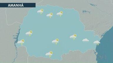 Previsão de chuva para toda a região dos Campos Gerais nesta quarta-feira (08) - Ventos de superfície trazem umidade e calor da Amazônia até o estado.