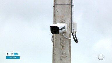 Câmeras de monitoramento são instaladas em Dracena - Equipamentos poderão ajudar a polícia em investigações.