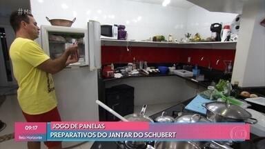 Schubert promove uma noite no navio pirata no 'Jogo de Panelas Espírito Santo' - Confira os preparativos para o jantar do metalúrgico