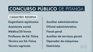 Prefeitura abre concurso para diversas vagas em Pitanga - Inscrições estão abertas para 21 áreas até 21 de janeiro.