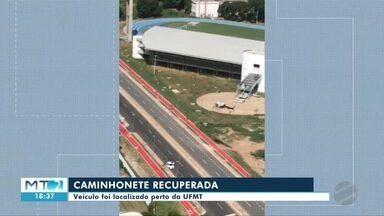 Polícia recupera caminhonete roubada em Cuiabá - Polícia recupera caminhonete roubada em Cuiabá