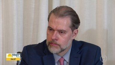 Ministro Dias Toffoli discute ações de gestão do Judiciário em Pernambuco - Presidente do STF se reuniu, na quarta (8), com representantes do Judiciário estadual.