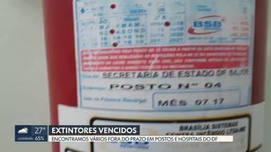 Postos de saúde e hospitais estão com extintores vencidos - Em Taguatinga e Ceilândia, os equipamentos deveriam ter sido trocado há mais de dois anos.