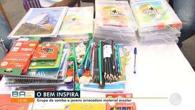 Grupos de samba e de jovens se unem e arrecadam material escolar para crianças carentes - Confira a campanha.