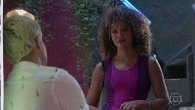 Gisele e Willian conversam - Ela conta que pretende voltar para ele para se vingar
