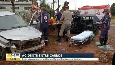 Cinco pessoas ficaram feridas, em Campo Grande, nesse domingo - Cinco pessoas ficaram feridas, em Campo Grande, nesse domingo