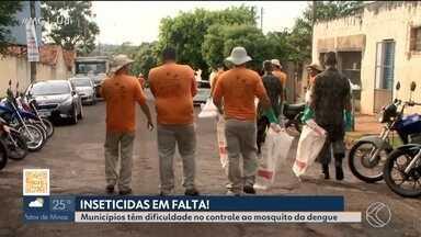 Ituiutaba e Capinópolis têm registro de falta de inseticida - Cidades não contam com inseticida e larvicida, que são usados no controle do mosquito. Ministério da Saúde comenta sobre a falta dos produtos.
