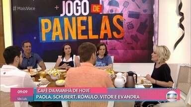 Ana Maria toma café com os participantes do 'Jogo de Panelas' - Eles assistem vídeos dos jantares e 'momentos sincerões'