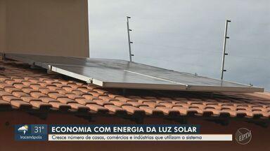 Cresce número de casas, comércio e indústrias que utilizam energia fotovoltaica - Sistema pode economizar até 95% no consumo de energia.