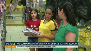 Preço do material escolar chega a variar 700% em Paranavaí - É o que aponta um levantamento feito pelo Procon.