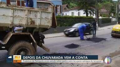 Prefeitura de Petrópolis conclui estudos sobre gastos para recuperar estragos do temporal - Prefeito fala sobre as obras de recuperação.