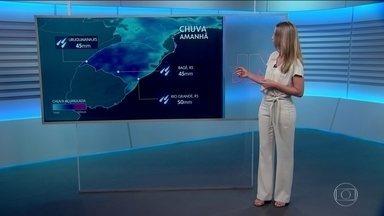 Veja como fica a previsão do tempo para quarta-feira (15) - Anne Lottermann traz um alerta de chuva para a Região Sul.