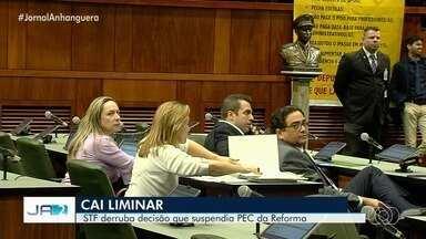 STF derruba liminar que suspendia a PEC da Previdência em Goiás - O argumento usado pelo ministro Dias Toffoli foi técnico.