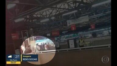 Segurança da CPTM é esfaqueado por passageiro na estação Palmeiras-Barra Funda - O vigilante foi atingido no pescoço e encaminhado à Santa Casa de São Paulo. O agressor foi preso em flagrante por tentativa de hmicídio.