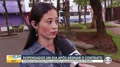 Prefeitura de Ribeirão Pires suspende programa de capacitação profissional e assistência - Projeto era oferecido a moradores sem emprego há ao menos um ano. Mais de cem pessoas tinham sido chamadas.