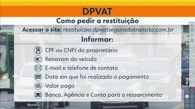 Começa hoje a restituição da diferença no valor pago do DPVAT - Saiba onde pedir a restituição e quais os documentos necessários.