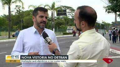 Nova vistoria do Detran será eletrônica e vai custar mais, no ES - Já está valendo a nova vistoria do Detran no Espírito Santo.