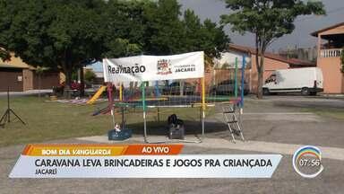 Jacareí tem programa gratuito de férias - Equipes da Secretaria de Esportes percorrem bairros da cidade.
