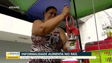 Cresce número de trabalhadores informais no Amazonas - Dados são do IBGE