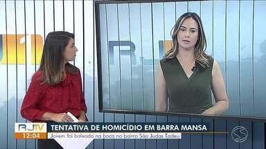 Jovem é baleado na boca após discussão no bairro São Judas Tadeu, em Barra Mansa - Segundo a Polícia Civil, um homem desceu de um carro na frente da casa da vítima e iniciou uma discussão.