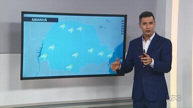 Veja como fica a previsão do tempo para Ponta Grossa e região nesta quinta-feira (16) - Em Wenceslau Braz, temperaturas devem variar entre 22ºC e 31ºC.