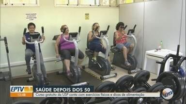 USP em Ribeirão Preto oferece atividade física a mulheres de 50 a 70 anos - Participantes de projeto também são submetidas a testes e exames de saúde.