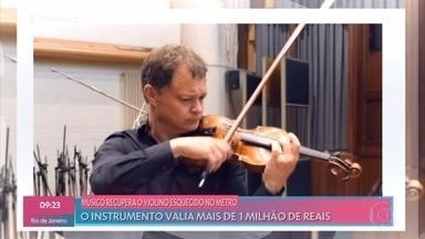 Músico recupera violino esquecido no metrô - O instrumento valia mais de 1 milhão de reais